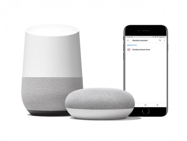 Servizio Combivox Voice Cloud - Assistenti vocali Google Home e Amazon Alexa
